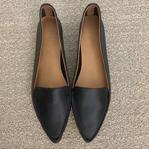 J. Crew Factory Edie Leather Loafers (Black, 9)